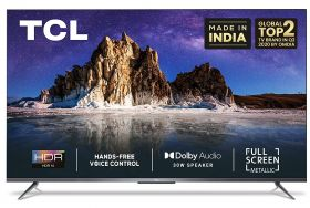 TCL 126 cm (50 inches) 4K Ultra HD Certified Android Smart LED TV 50P615 (Black) (2020 Model) | With Dolby Audio