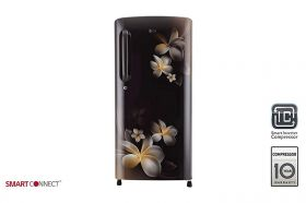 LG 190 L 4 Star Direct Cool Single Door Refrigerator(GL-B201AHPY, Hazel Plumeria, Smart Inverter Compressor)