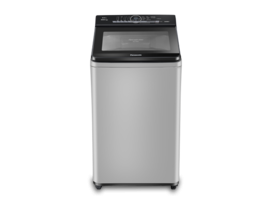 Panasonic 6.7 kg Built-in Heater Fully-Automatic Top Loading Washing Machine (NA-F67BH8MRB,Middle free silver,Active Foam System) with Water Reuse