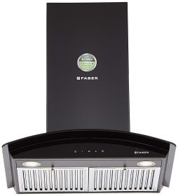 Faber 60 cm 3 Way Silent Suction Chimney, 1095 m3/hr (Feel Plus 3D T2S2 BK TC LTW 60, Black)