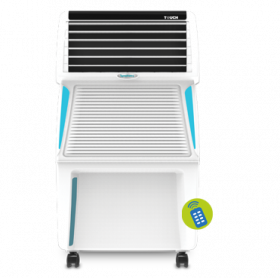 Symphony Touch 35 Personal Air Cooler 35-litres with Remote, Digital Touchscreen, Voice Assist, Multistage Air Purification, Mosquito Repellent, Removable Tank & Low Power Consumption (White)